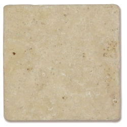 Carrelage pierre Travertin vieilli beige Mix 10x10 cm - 0.5m²