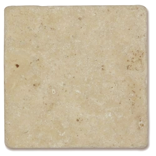 Carrelage pierre Travertin vieilli beige Mix 10x10 cm - 0.5m² - zoom