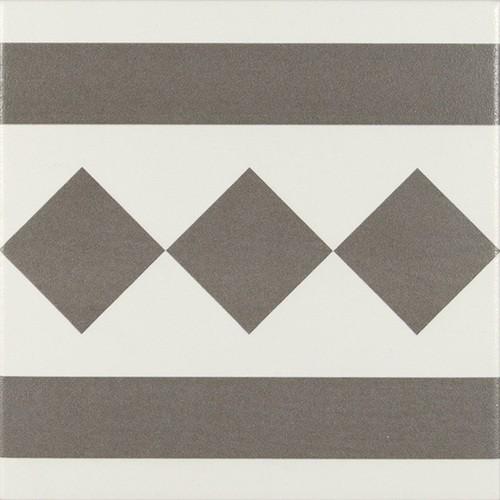Carrelage de bordure 20x20 cm ANTIGUA GRIS - 1m² Ribesalbes