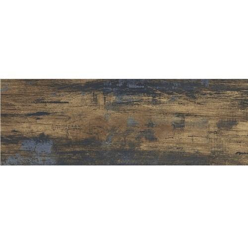 Carrelage imitation parquet rectifié style vintage ELBRUS 17,5x50 cm - 1.14m² - zoom