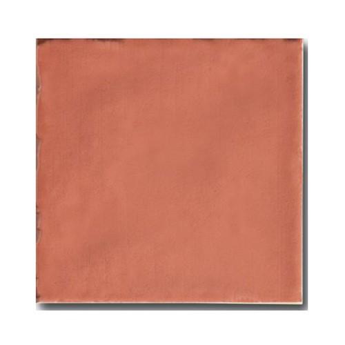 Faience rustique patinée ROUGE ORANGÉ 15x15 cm - 1m² - zoom