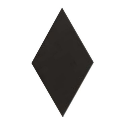 Carrelage losange diamant 14x24cm noir lisse ref. 22693 RHOMBUS MAT - 1m²