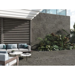 Carrelage anthracite imitation pierre rectifié 60x120cm HANNOVER BLACK -R10- 1.44m² - zoom