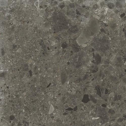 Carrelage anthracite imitation pierre rectifié 60x60cm HANNOVER BLACK -R10- 1.08m² Baldocer
