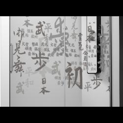 Parois de douche frontal 1 parois fixe + 1 coulissante - Chinois ASDC