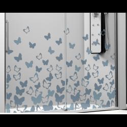 Parois de douche frontal 1 parois fixe + 1 coulissante - Papillons ASDC