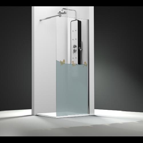 Paroi de douche fixe 1 panneau - Décor Canards ASDC