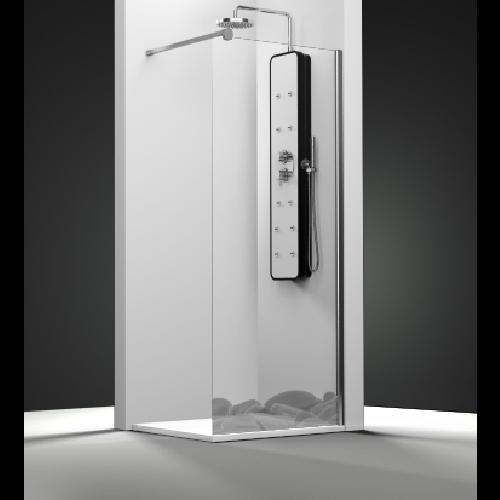 Paroi de douche fixe 1 panneau - Décor Galets Zen - zoom