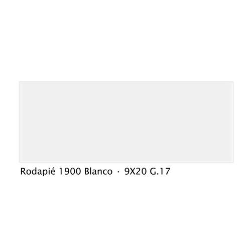 Plinthe intérieur vieillie 1900 9x20 cm BLANC - 2mL Vives Azulejos y Gres