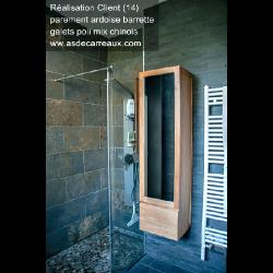 Parement extérieur pierre naturelle Ardoise barrettes 35x18 cm - 0.57m² ASDC