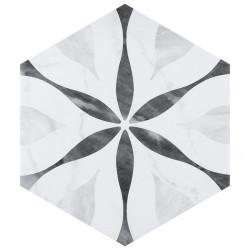 Carrelage hexagonal motif 17,5x20 BARDIGLIO FLOWER 23772 - 0.71m²