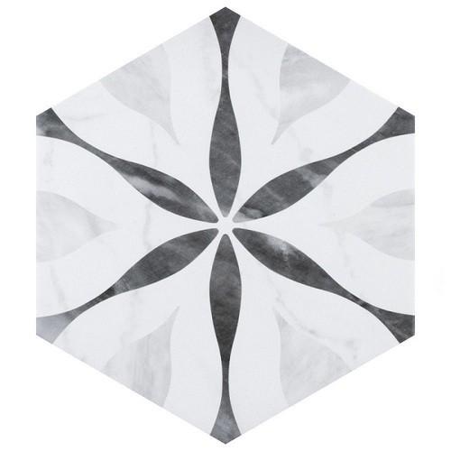 Carrelage hexagonal motif 17,5x20 BARDIGLIO FLOWER 23772 - 0.71m² Equipe