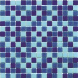 Mosaique piscine Mix de Bleu Deep Swimming 32.7x32.7 cm - 2.14m² Ston