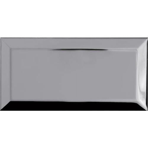 Carrelage Métro Argent miroir 10x20 cm - unité - zoom