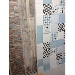 Carrelage imitation ciment bleu 20x20 cm VALVANERA-2 FRISE - 1m² Vives Azulejos y Gres