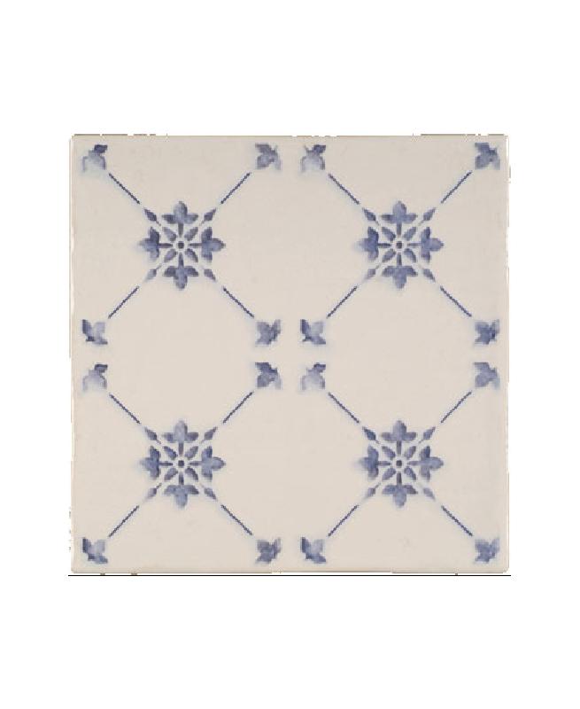 Faience imitation ciment bleu et blanc cassé 20x20 cm ALCAZAR - 1m² Vives Azulejos y Gres
