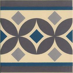 Carrelage imitation ciment bordure 20x20 cm GUELL-2 - 1m² Vives Azulejos y Gres