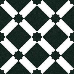 Carrelage style ciment blanc noir géométrique 20x20 cm 1900 PALAU GRAFITO - 1m² Vives Azulejos y Gres