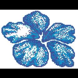 Décor piscine fleur bleue 266x200 cm - unité