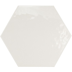 Carrelage hexagonal 17.5x20 Tomette design HEXATILE BLANC Brillant 20519 – 0.71m²