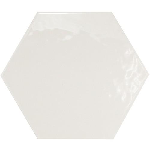 Carrelage hexagonal 17.5x20 Tomette design HEXATILE BLANC Brillant 20519 – 0.71m² - zoom