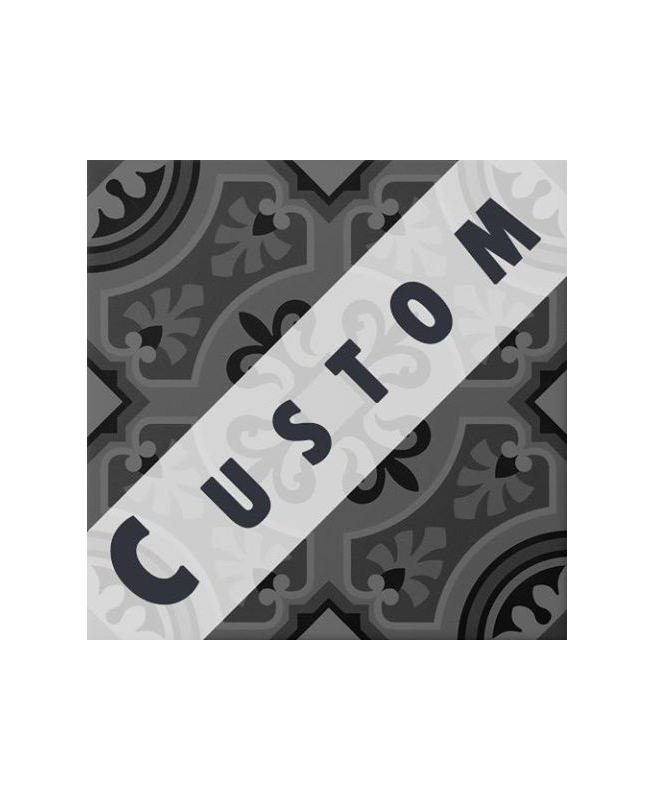 Carreau imitation ciment personnalisable 20x20 cm CUSTOM ARABESQUE
