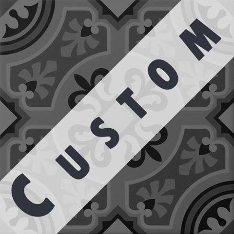 Carreau imitation ciment personnalisable 20x20 cm CUSTOM ARABESQUE - zoom
