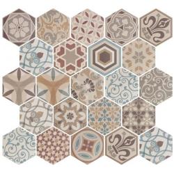 Carrelage hexagonal 17.5x20 Tomette Harmony Colours 21356 – 0.71m² ASDC