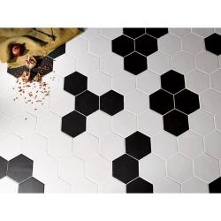 Carrelage hexagonal 17,5x20 HEXATILE NOIR MAT 20338 - 0.71m² Equipe