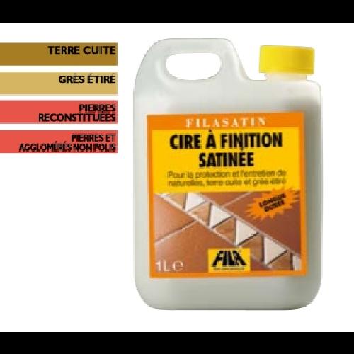 Cire de Protection pour terre cuite et pierre Fila Satin 1 L Fila