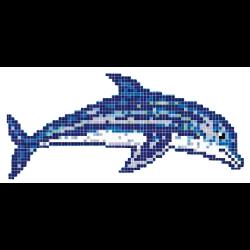 Décor piscine bébé dauphin 200x100 cm - unité Onix