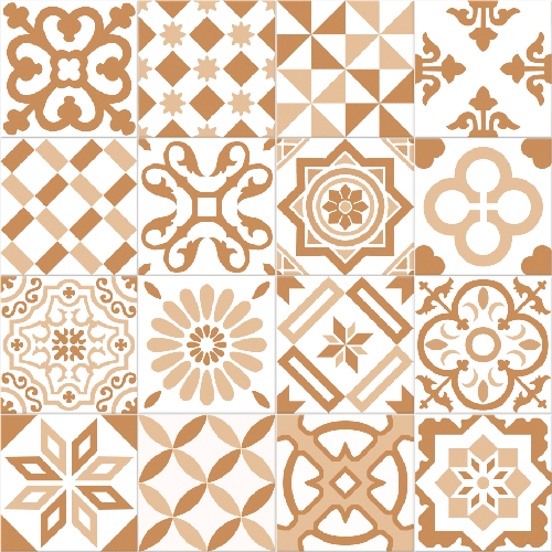 Carrelage imitation ciment beige et blanc mix 20x20 cm ANTIGUA BEIGE - 1m² - zoom