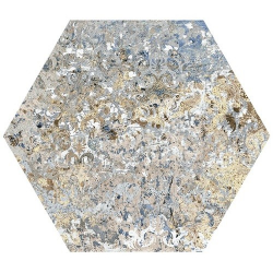 Carrelage tomette décors vieillis CARPET VESTIGE NATURAL HEXAGON 25x29 cm - 0.935m²