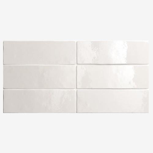 Carrelage effet zellige 6.5x20 ARTISAN BLANC 24464 - 0.5m² Equipe