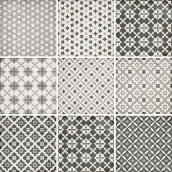 Carrelage style ciment patchwork 20x20 cm ART NOUVEAU ALAMEDA GREY 24420 - 1m² Equipe