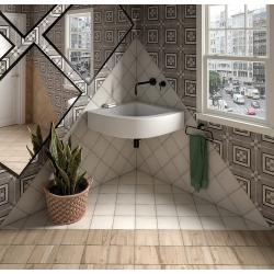 Carrelage style ciment 20x20 cm ART NOUVEAU INSPIRE GREY 24415 - 1m² Equipe