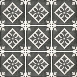 Carrelage style ciment 20x20 cm ART NOUVEAU PADUA BLACK 24416 - 1m²