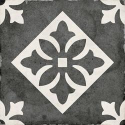 Carrelage style ciment 20x20 cm ART NOUVEAU PADUA BLACK 24416 - 1m² Equipe