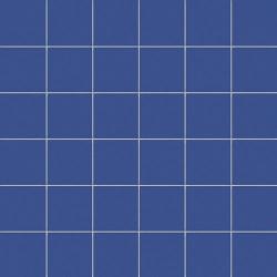 Mosaique bleu barbeau 5x5 sur trame 30x30 cm AVIO MATT- 1m² CE.SI