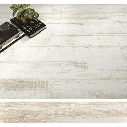 Carrelage parquet rectifié blanc vieilli CAYENNE R10 20x114 cm - 1.14m² Baldocer