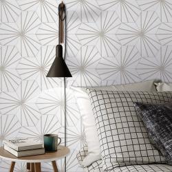 Tomette blanche à rayure grise motif dandelion MERAKI LINE GRIS 19.8x22.8 cm - 0.84m² Bestile