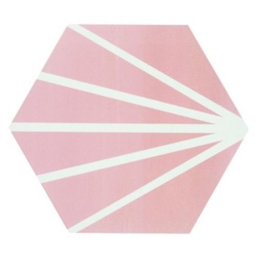 Tomette rose motif dandelion MERAKI ROSA 19.8x22.8 cm - 0.84m² Bestile