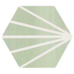 Tomette verte motif dandelion MERAKI VERDE 19.8x22.8 cm - 0.84m²