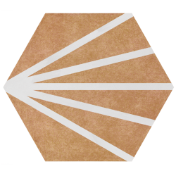 Tomette dandelion marron orangé PATH CARAMELO COLORS 23x26.5 cm - 0.75m²
