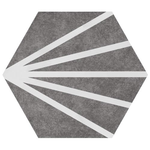 Tomette dandelion grise PATH GREY COLORS 23x26.5 cm - 0.75m² Bestile
