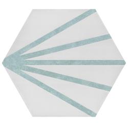Tomette dandelion ligne bleue clair PATH LINEA AGUAMARINA 23x26.5 cm - 0.75m² Bestile