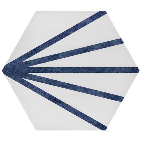 Tomette dandelion ligne bleue PATH LINEA AZUL 23x26.5 cm - 0.75m² - zoom