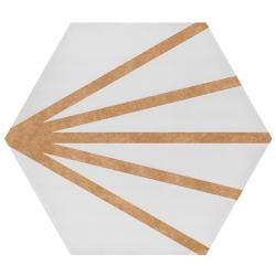 Tomette dandelion ligne marron orangé PATH LINEA CARAMELO 23x26.5 cm - 0.75m²