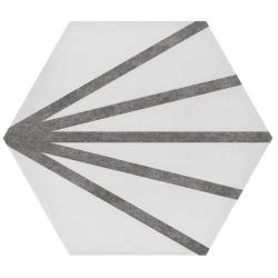 Tomette dandelion ligne grise PATH LINEA GREY 23x26.5 cm - 0.75m²