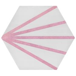Tomette dandelion ligne rose PATH LINEA ROSA 23x26.5 cm - 0.75m²